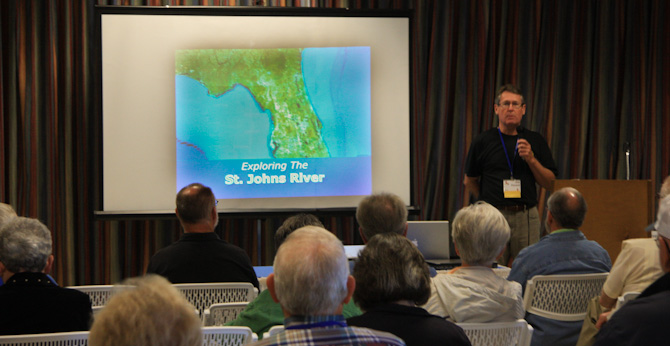 Jim Favors presenting the St. Johns River