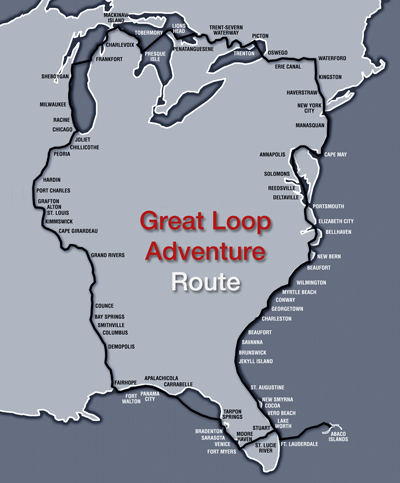 Great Loop Boat Trip Map